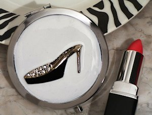 Chic Shoe Design Compact Mirror Favors image