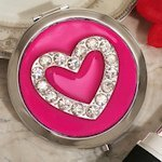 Chic Heart Compact Mirror Favors