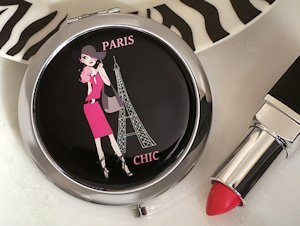 Paris Chic Compact Mirror Favors image