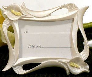 Elegant Calla Lily Photo Frame and Place Card Holder image