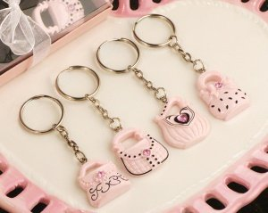 Trendy Pink Purse Keychain Favors image