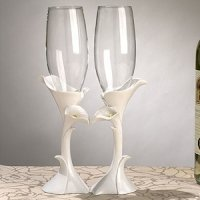 Calla Lily Wedding Toasting Flutes