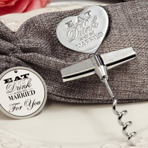 Eat Drink Be Married Chrome Wine Opener image