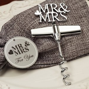 Silver Elegance Mr and Mrs Wine Opener image
