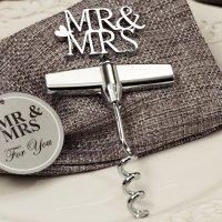 Silver Elegance Mr and Mrs Wine Opener