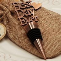 Our Best Day Ever Copper Bottle Stopper