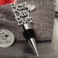 Our Best Day Ever Chrome Bottle Stopper