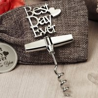 Our Best Day Ever Chrome Wine Opener