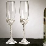 Crystal Calla Lily Toasting Flutes