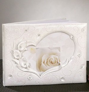 Crystal Calla Lily Guest Book image