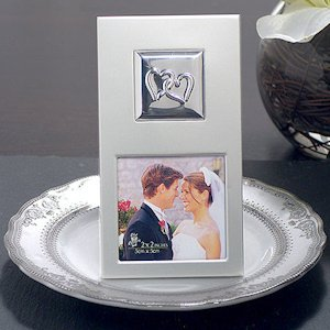 Two Hearts Metal Photo Frame image