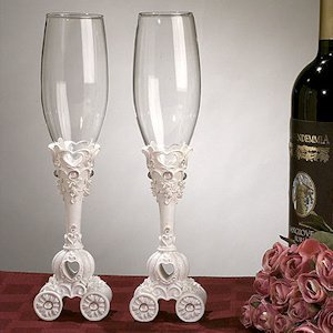 Wedding Coach Toasting Flutes image