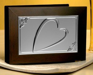 Photo Album with Wood Cover and Embossed Heart Design image