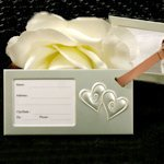 Luggage Tag Wedding Favors - Two Hearts Beating As One
