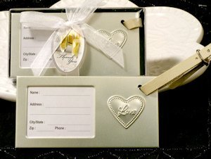 Love Within My Heart Wedding Luggage Tag Favors image