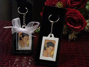 Silver Keychain Photo Frame Favors image