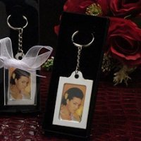 Silver Keychain Photo Frame Favors