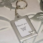 Butterfly Design Photo Frame Key Chain Favors