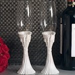 Happily Ever After Fairytale Wedding Toasting Flutes