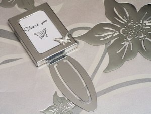 Butterfly Design Photo Frame Bookmark Favors image