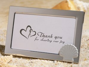 Beach Theme Metal Photo Frame Favors image