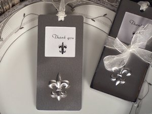 Fleur De Lis Photo Frame Bookmark Favor image