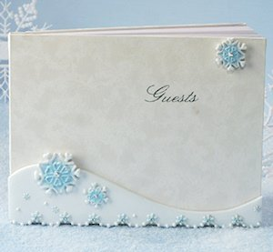 Blue Snowflake Guest Book image