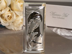 Crystal Rectangular Madonna and Baby Favors image