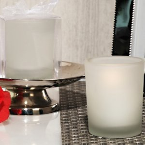 Glass Votive Candle Holder Favor in Clear Gift Box image