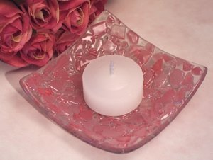 Pink Pebble Design Murano Glass Candle Holder image