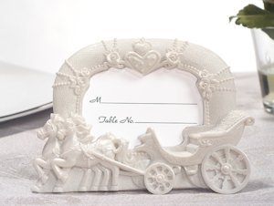 Fairytale Wedding Coach Place Card Frame Favors image