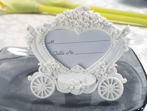 Enchanting Wedding Coach Place Card Frame image