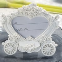Enchanting Wedding Coach Place Card Frame