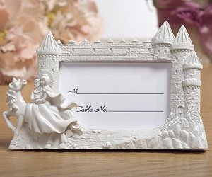 Knight in Shining Armor Castle Place Card Frame image