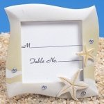 Sand Colored Beach Themed Place Card Frame
