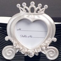 Heart Shaped Wedding Coach Place Card Frame