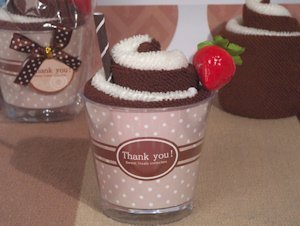 Sweet Treat Chocolate Sundae Towel Favor image