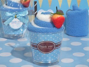 Sweet Treat Blueberry Sundae Towel Favor image