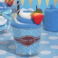 Sweet Treat Blueberry Sundae Towel Favor