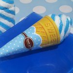 Blueberry Swirl Ice Cream Cone Towel Favor