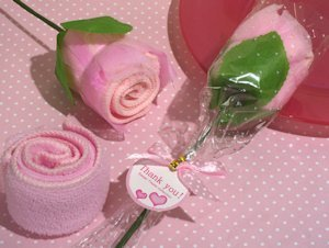 Pink Rose Towel Party Favors image