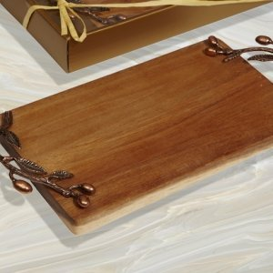 Bronze Leaf Acacia Rectangular Wood Cutting Board image