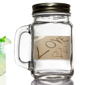 Love on the Beach Mason Jar Favors image