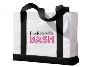 Bachelorette Bash Black and White Tote Bag image