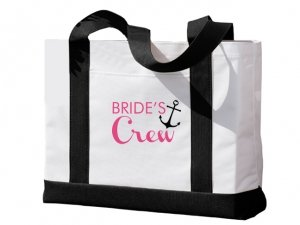 Brides Crew Black and White Tote Bag image