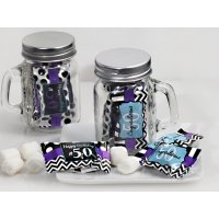 50th Birthday Mint Candy Favors with Mason Jar