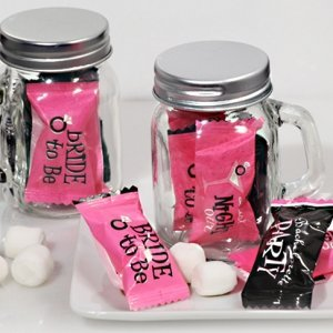 Bachelorette Party Mint Candy Favors with Mason Jar image