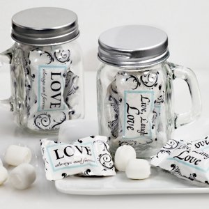 Live Love and Laugh Mason Jar Mint Candy Favors image