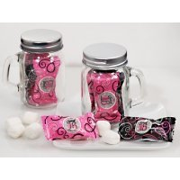 Sweet 16 Mint Candy Favors with Mason Jar