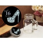 Dazzling Shoe Sweet 16 Design Vintage Mini Mason Jar Favor